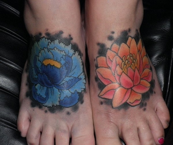 foot tattoo designs for girls 50