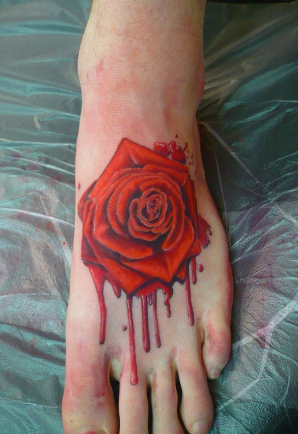 foot tattoo designs for girls