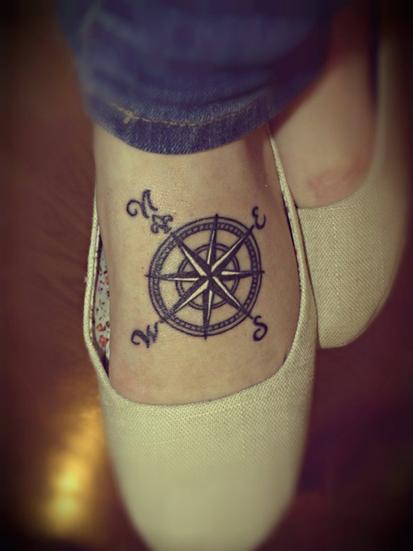 Compass Tattoo Designs 1