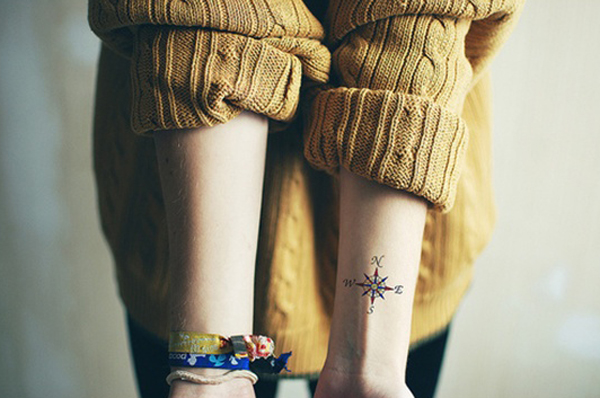 Compass Tattoo Designs 12