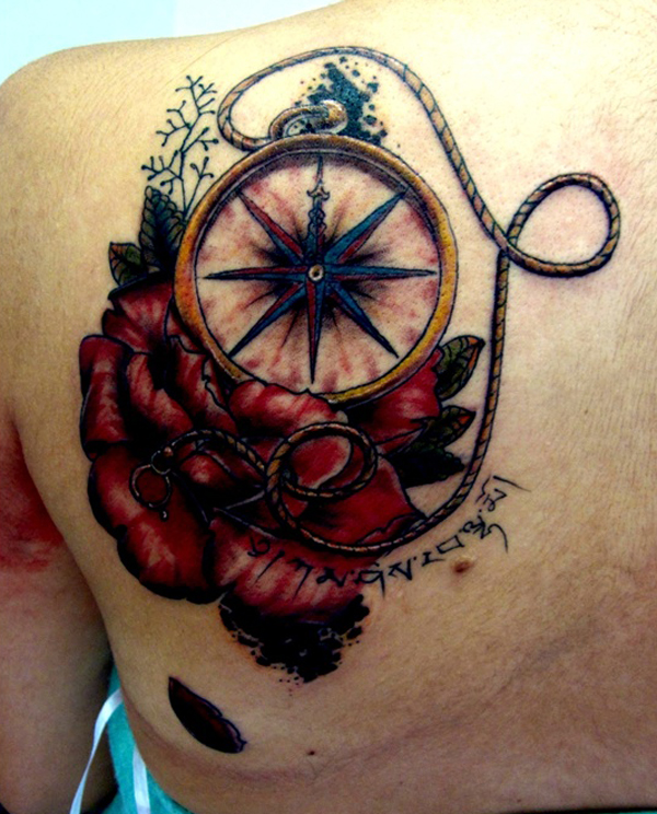Compass Tattoo Designs 15