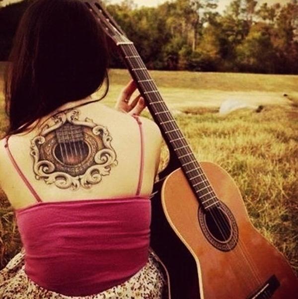 Guitar Tattoo Designs and Ideas 1