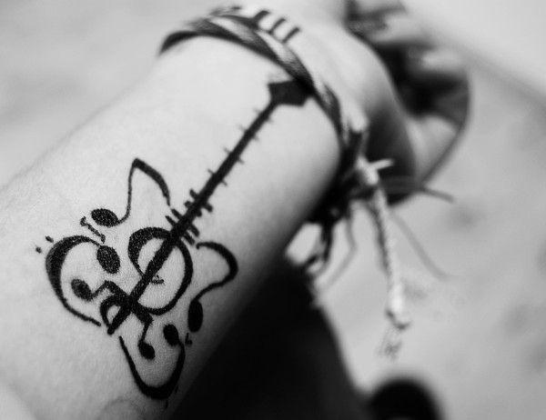 Guitar Tattoo Designs and Ideas 14