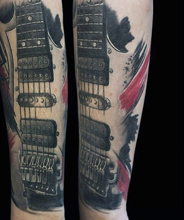 Guitar Tattoo Designs and Ideas 19