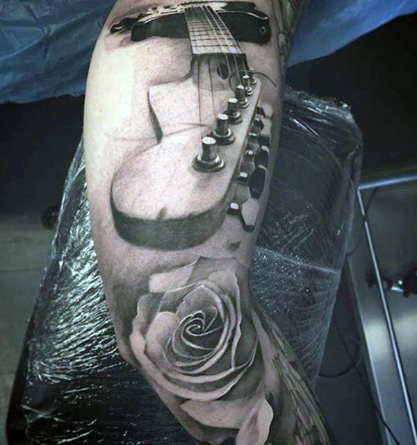 Guitar Tattoo Designs and Ideas 20