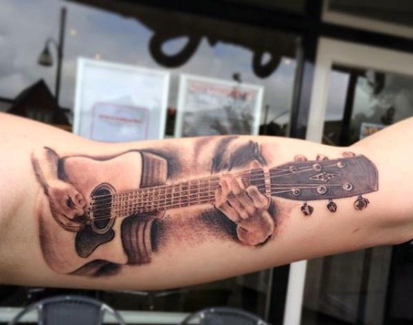 Guitar Tattoo Designs and Ideas 26