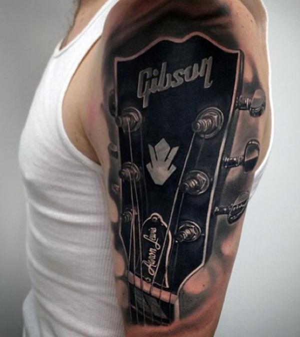 Guitar Tattoo Designs and Ideas 30