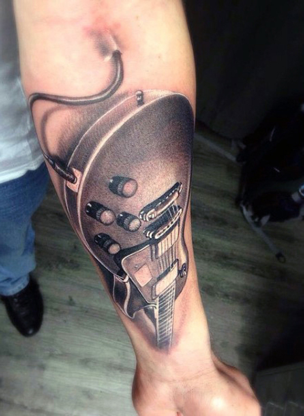 Guitar Tattoo Designs and Ideas 36