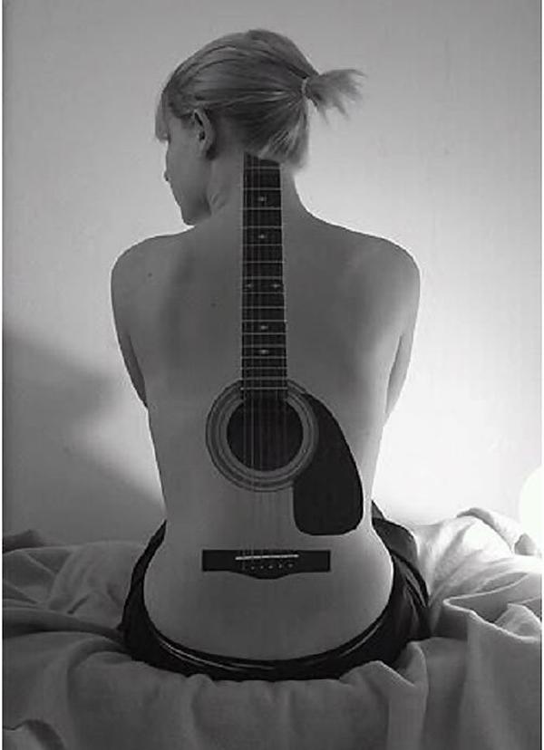 Guitar Tattoo Designs and Ideas 42