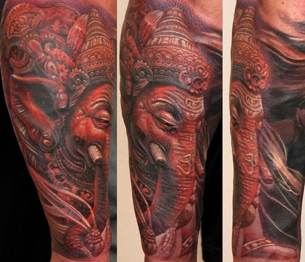 Olden Styling Ganesh Tattoo