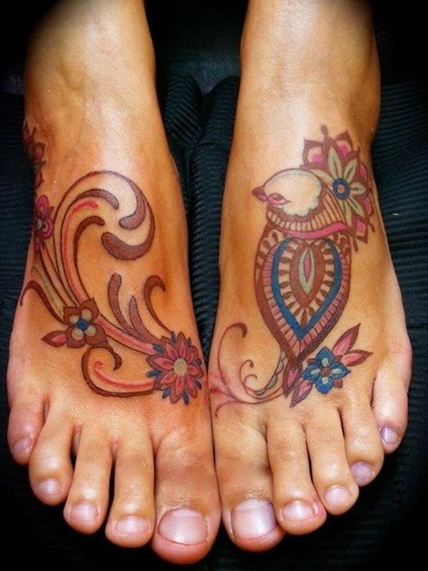 Foot Tattoo Design For Girls