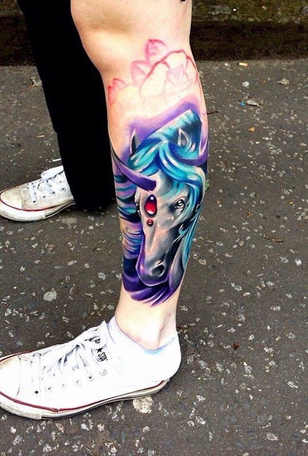 Unicorn Tattoo Designs 4