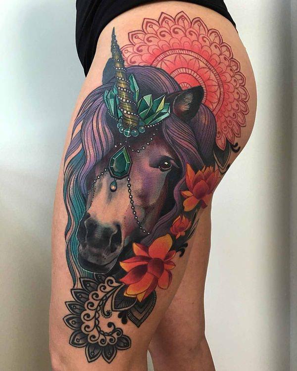 Unicorn Tattoo Designs 58