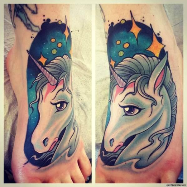 Unicorn Tattoo Designs 60
