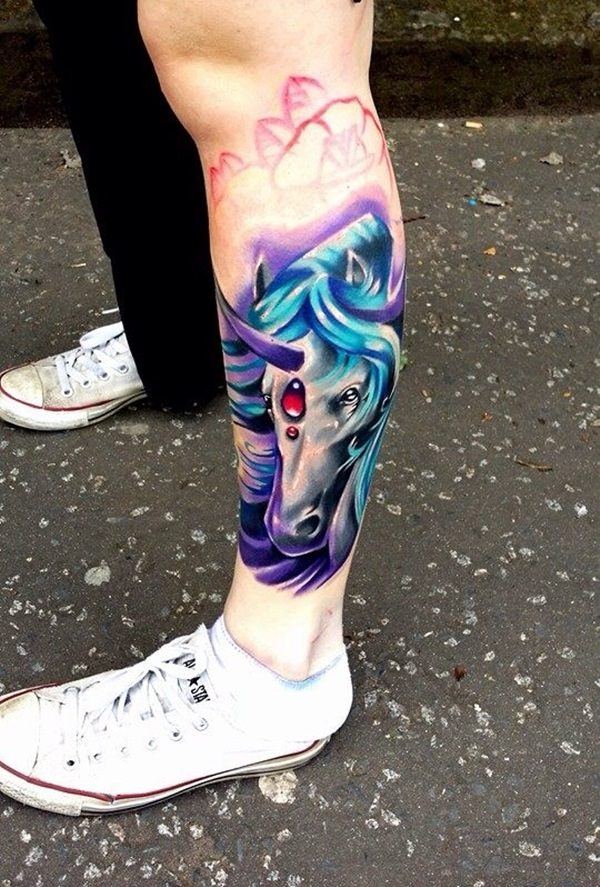Unicorn Tattoo Designs 68