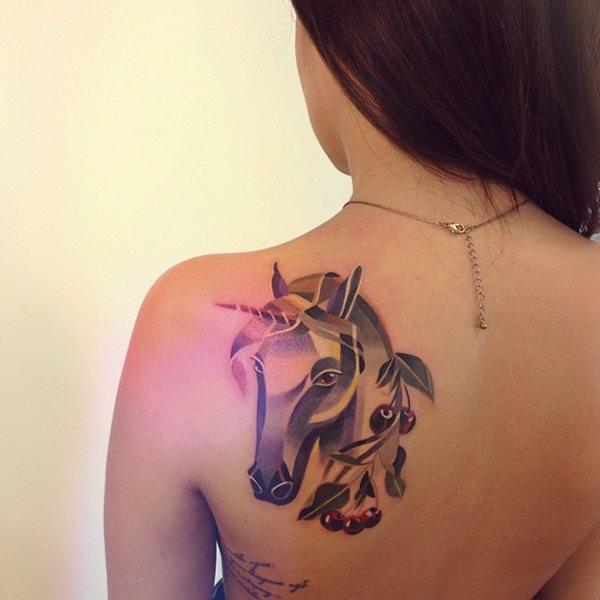 Unicorn Tattoo Designs 78