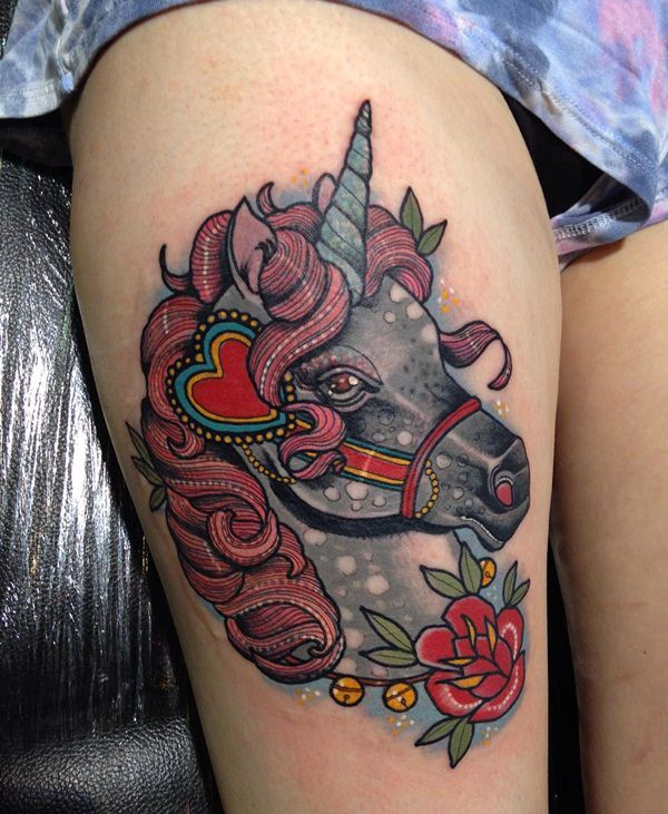 Unicorn Tattoo Designs 98