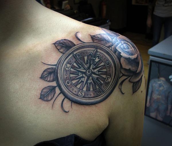 compass tattoo designs 23