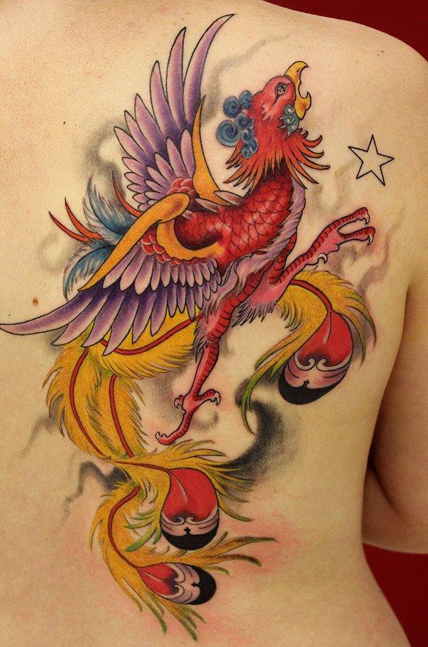 Beautiful Phoenix Tattoo Designs 26