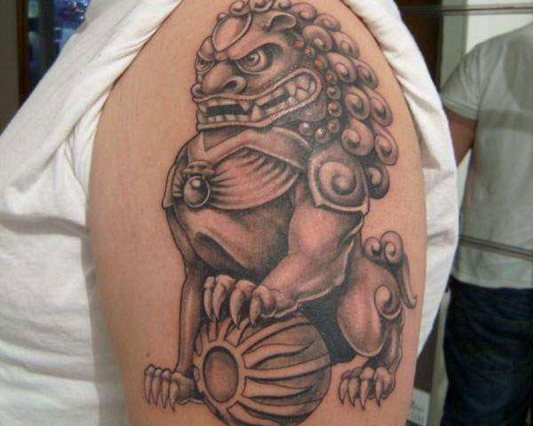 Breathtaking Foo Dog Tattoos for Inspiration 12