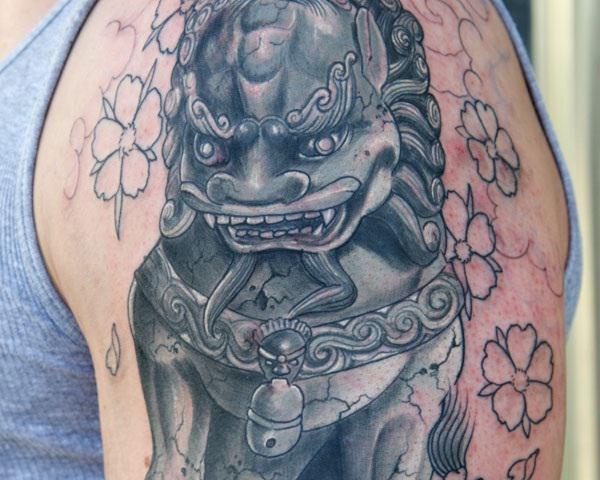 Breathtaking Foo Dog Tattoos for Inspiration 26