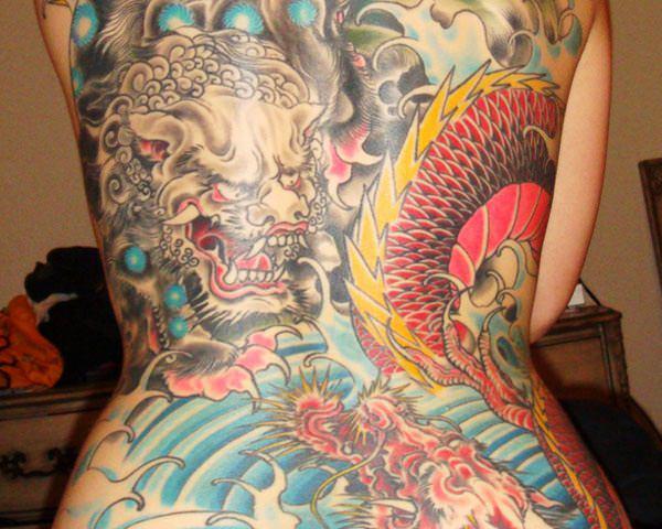 Breathtaking Foo Dog Tattoos for Inspiration 28