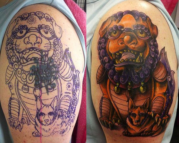 Breathtaking Foo Dog Tattoos for Inspiration 5