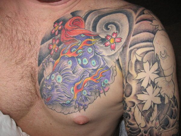 Breathtaking Foo Dog Tattoos for Inspiration 9