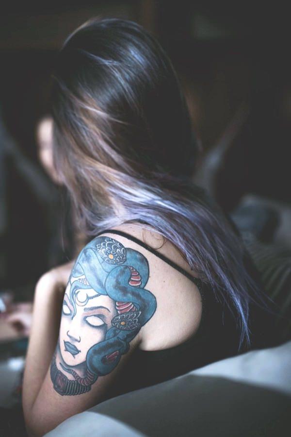 Extraordinary Medusa Tattoo Designs 11
