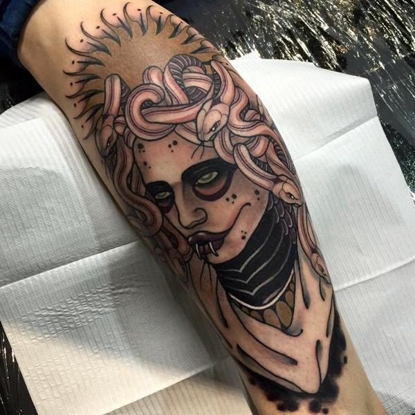 Extraordinary Medusa Tattoo Designs 20