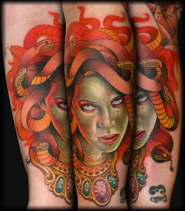 Extraordinary Medusa Tattoo Designs 22