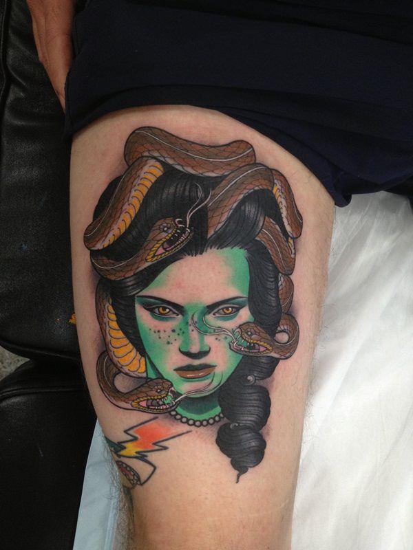 Extraordinary Medusa Tattoo Designs 23