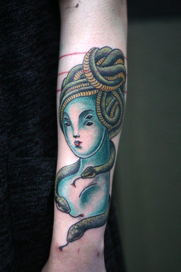 Extraordinary Medusa Tattoo Designs 24