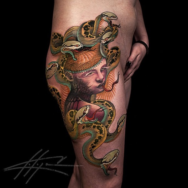 Extraordinary Medusa Tattoo Designs 30