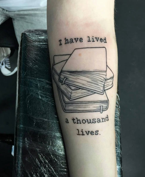 Amazing Book Tattoos for Literary Lovers