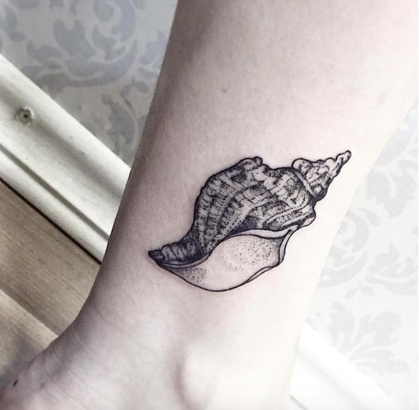 Beautiful Seashell Tattoos Designs For Men and Women