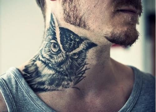 Neck Tattoos Designs and Ideas for Men