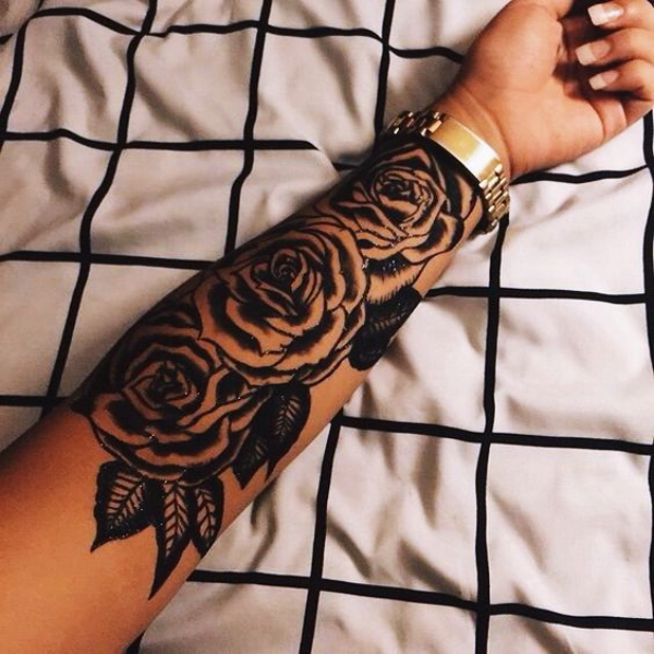Gorgeous Rose Tattoo Designs For Women