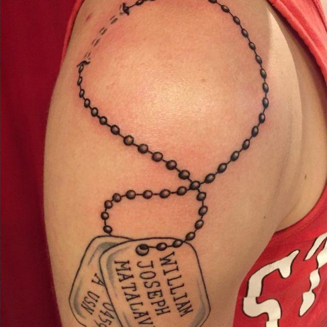 Dog Tag Tattoos Design and Ideas