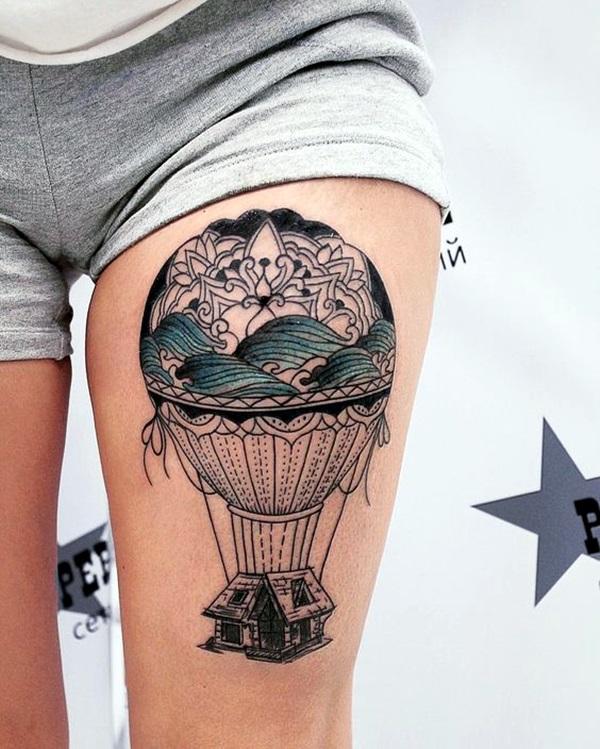 Hot Air Balloon Tattoos Designs And Ideas