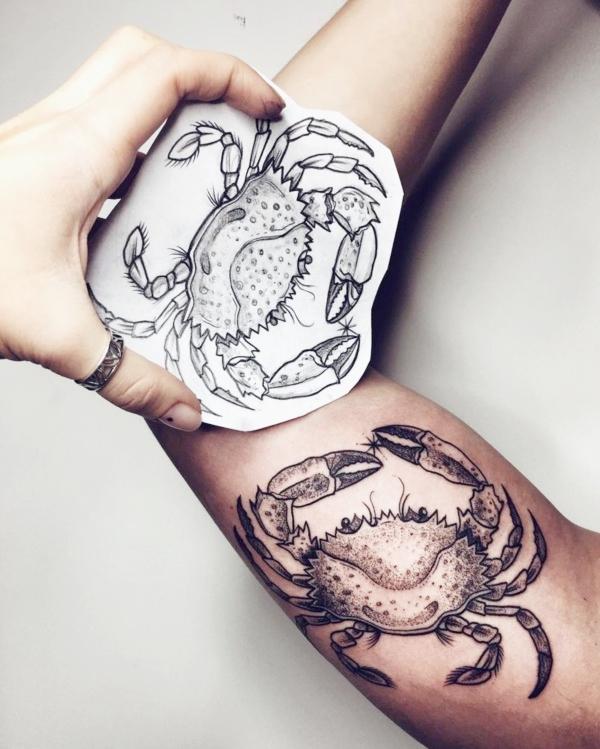 Cancer Zodiac Tattoos Designs and ideas