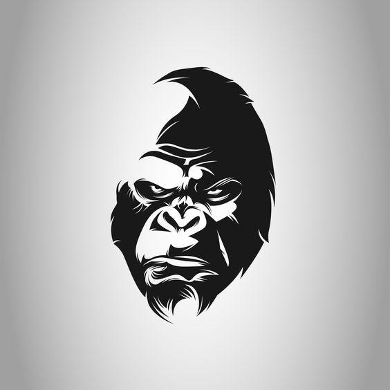 Gorilla Logo Black White