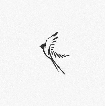 Trendy Swallow Bird Logo Tattoos Ideas