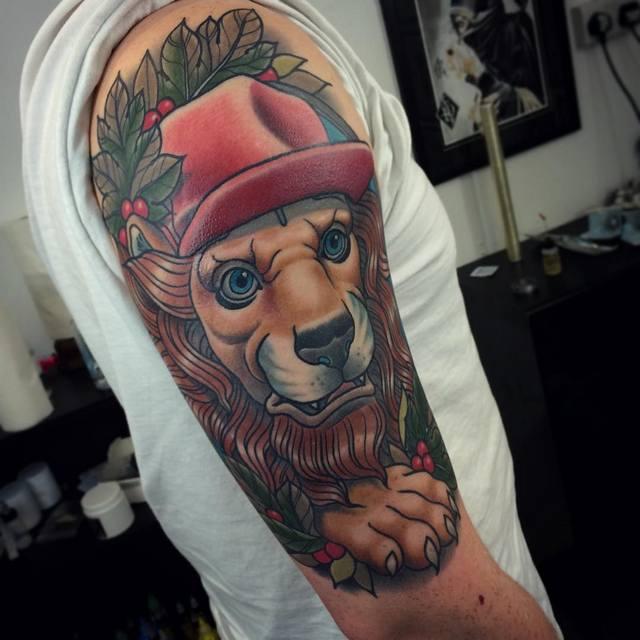 neo traditional lion jack goks
