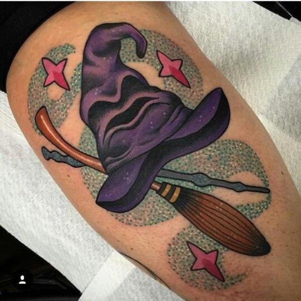 Magical Harry Potter Tattoo Design