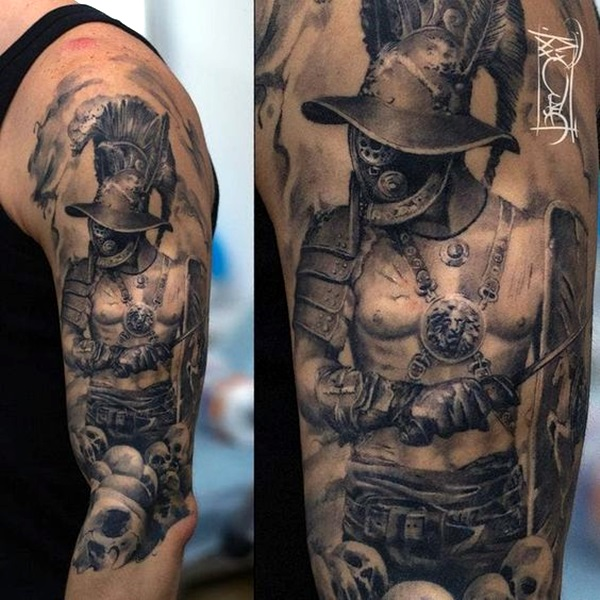 Gladiator Tattoo Designs and ideas for youth